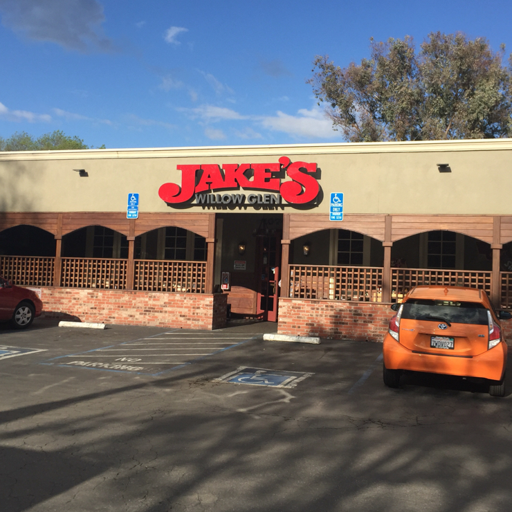 Vegan user review of Jake's of Willow Glen in San Jose.