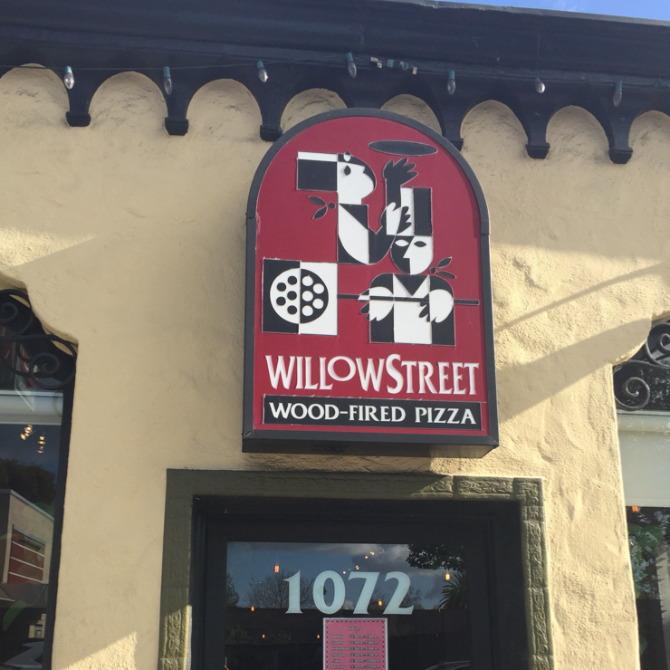 Vegan user review of Willow Street Wood-Fired Pizza in San Jose.