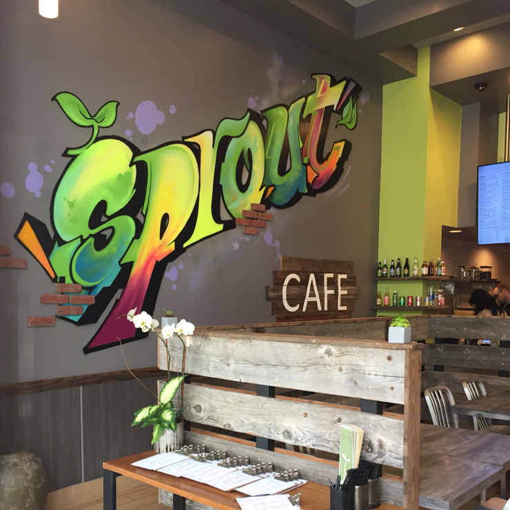 Vegan user review of Sprout Cafe in Palo Alto.