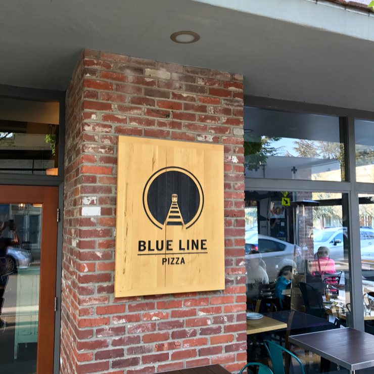 Vegan user review of Blue Line Pizza in Campbell.