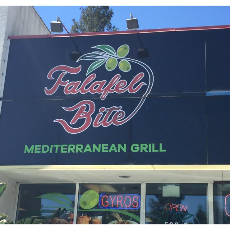 Vegan user review of Falafel Bite in Sunnyvale.