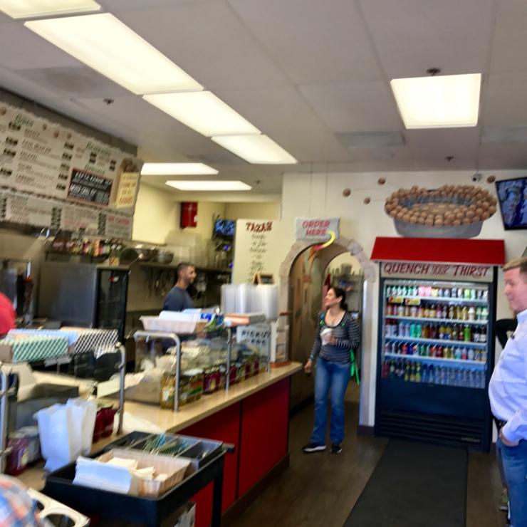 Vegan user review of Falafel Tazah in Redwood City.