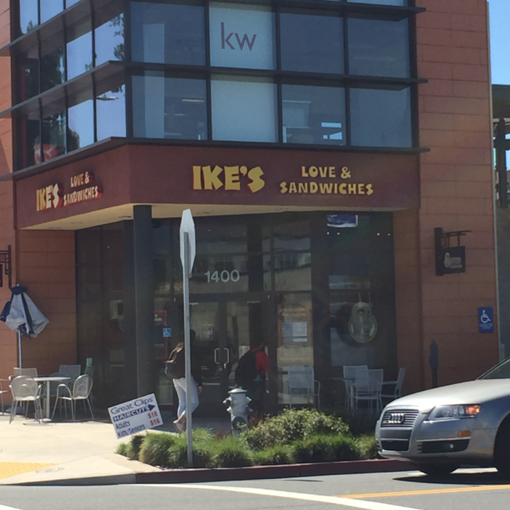 Vegan user review of Ike's Place in Burlingame.
