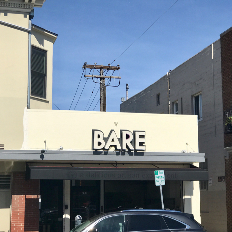 Vegan user review of Bare Bowls in Burlingame.