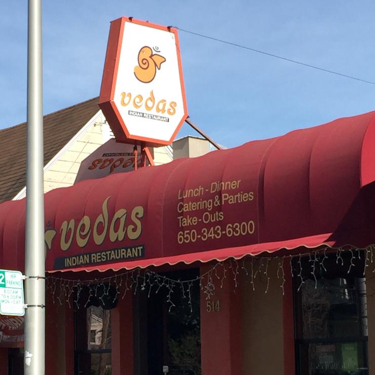 Vegan user review of Vedas Indian Restaurant in San Mateo.