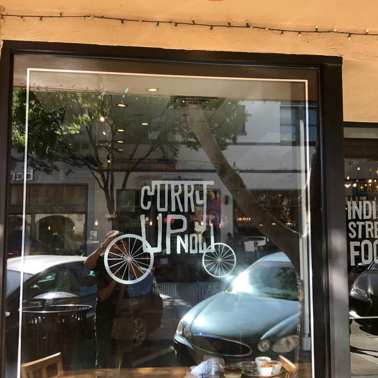 Vegan user review of Curry Up Now in San Mateo.