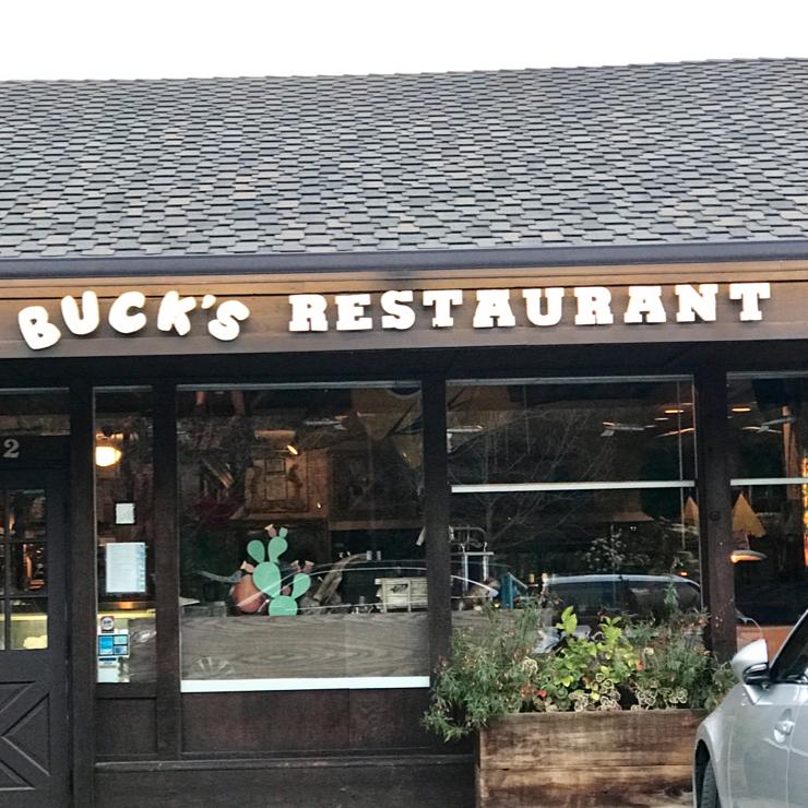Vegan user review of Buck's of Woodside in Woodside.