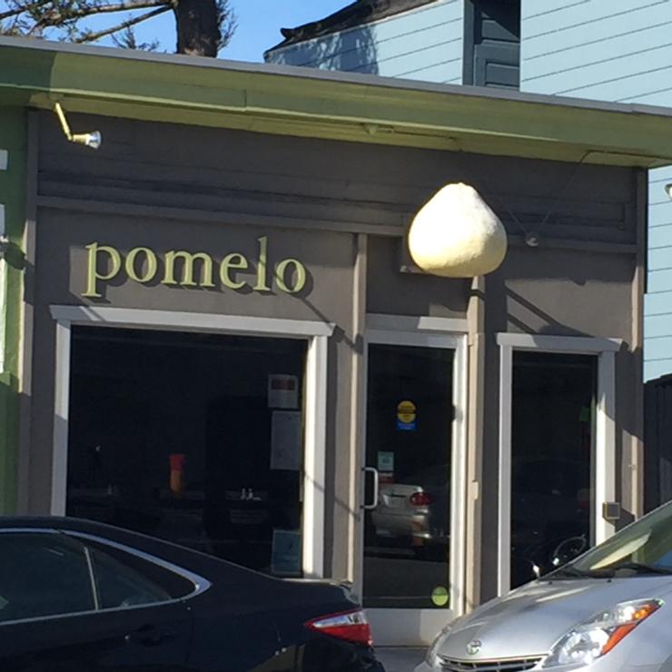 Vegan user review of Pomelo in San Francisco.
