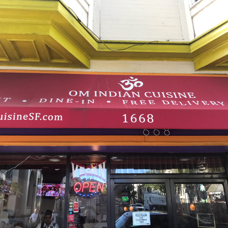 Vegan user review of Om Indian Cuisine in San Francisco.