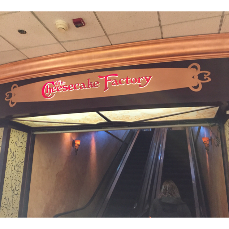 Vegan user review of The Cheesecake Factory in San Francisco. access is inside Macy's on the 7th floor via this escalator. Otherwise, there is an elevator just inside the door when you enter the mall from Market St.