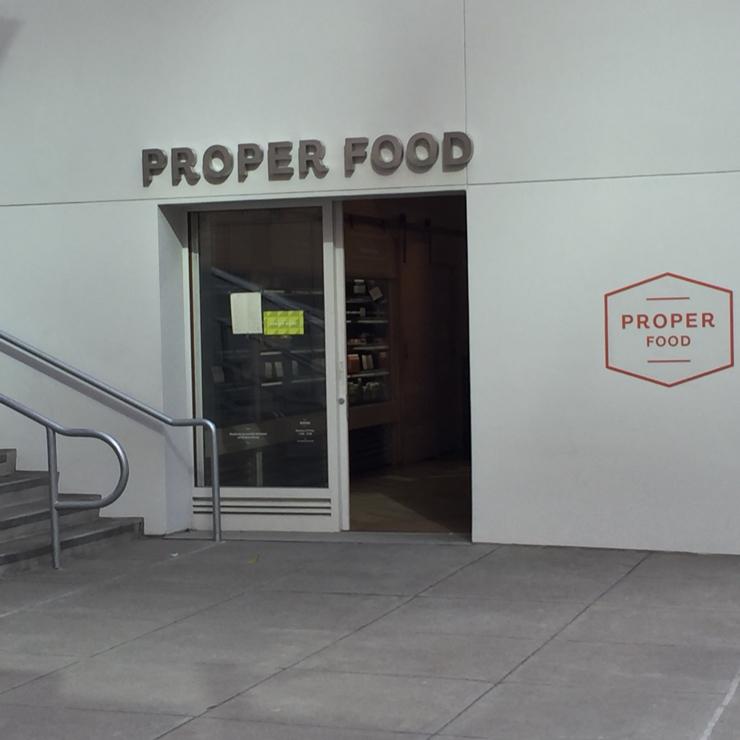 Vegan user review of Proper Food in San Francisco.