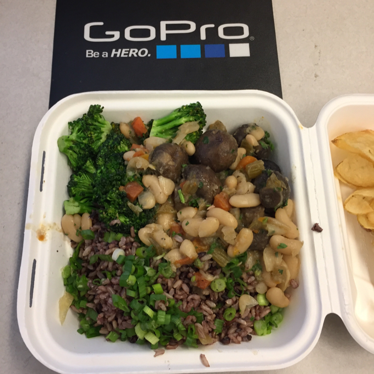 Vegan user review of GoPro in San Mateo. Great food.