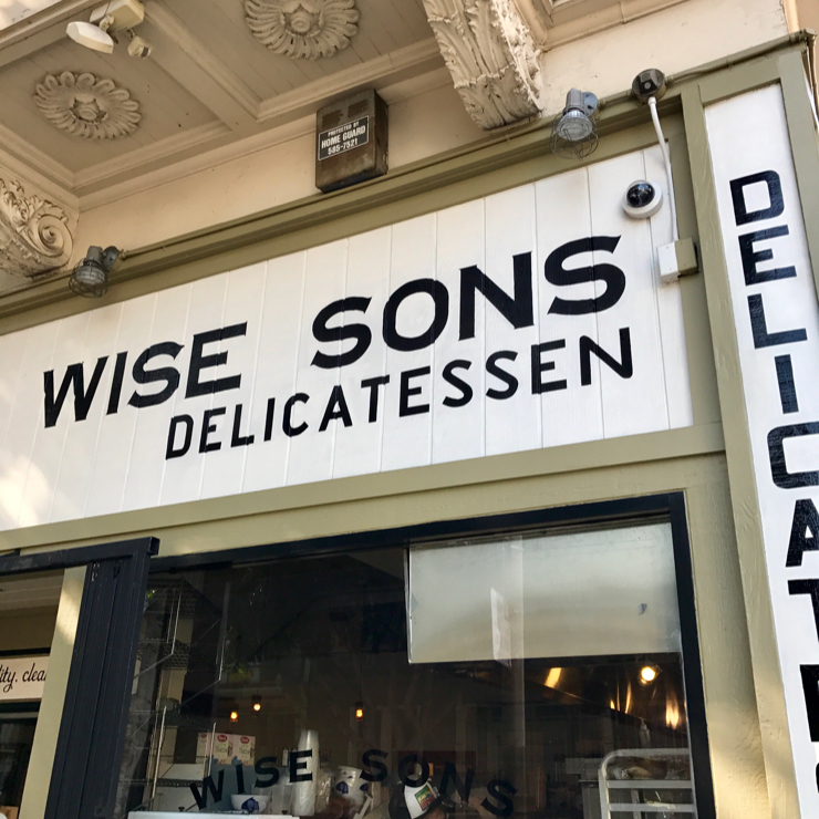 Vegan user review of Wise Sons Jewish Delicatessen in San Francisco.