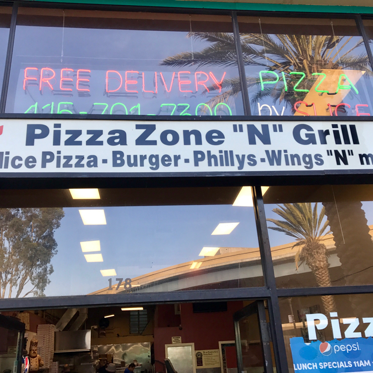 Vegan user review of Pizza Zone N Grill in San Francisco.