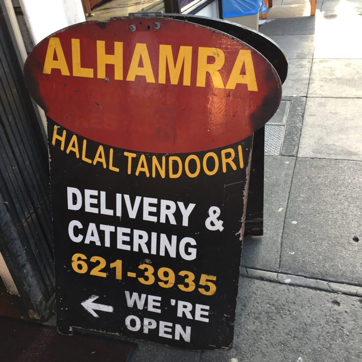 Vegan user review of Alhamra in San Francisco.