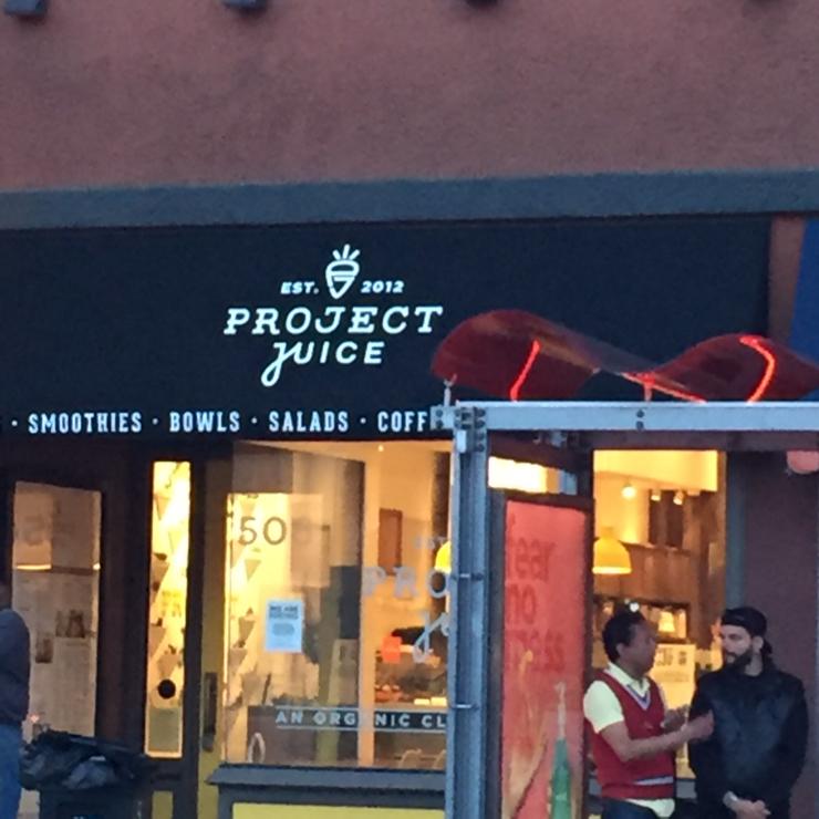 Vegan user review of Project Juice in San Francisco.