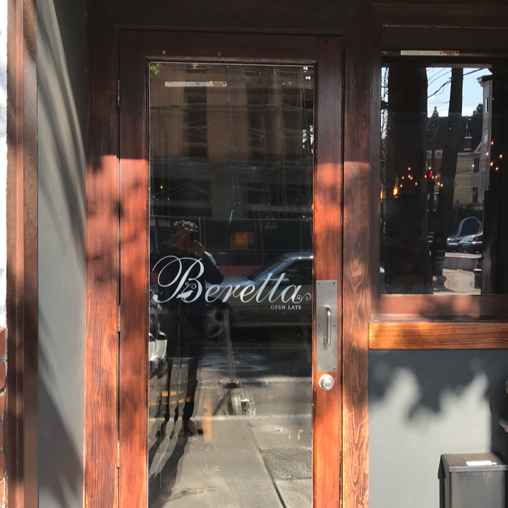 Vegan user review of Beretta in San Francisco.