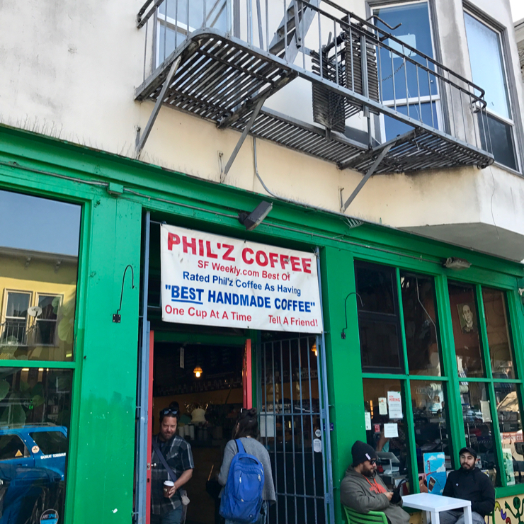 Vegan user review of Philz Coffee in San Francisco.