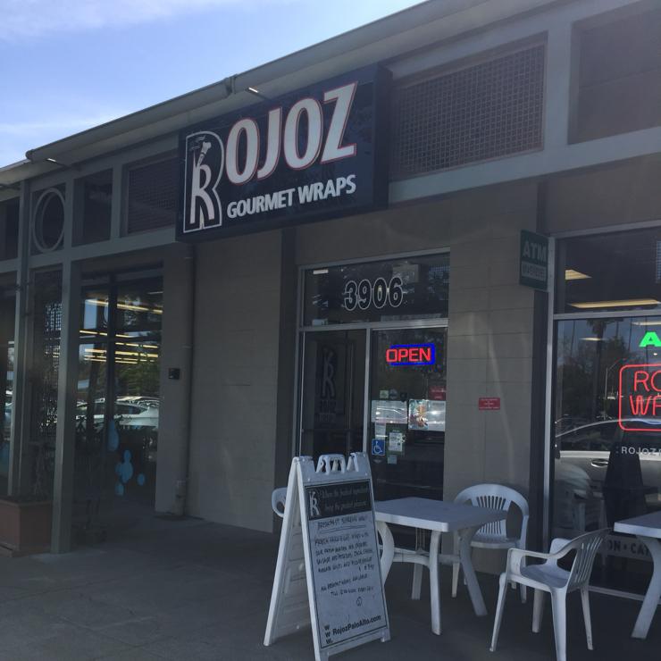 Vegan user review of Rojoz Gourmet Wraps in Palo Alto.