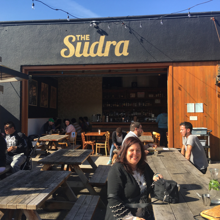 Vegan user review of The Sudra in Portland. Cute little place with mainly outdoor seating serving all vegan Indian inspired bowls and plates.