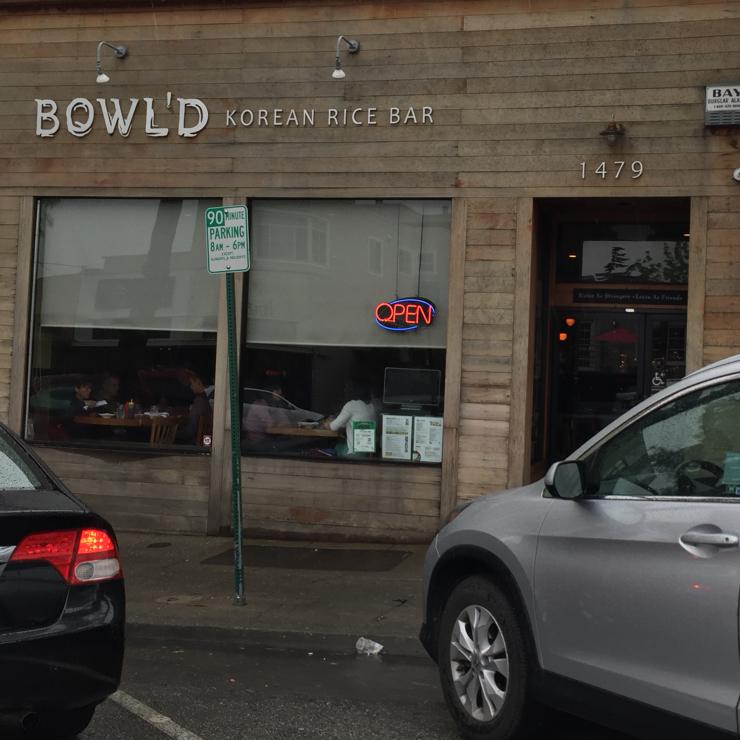 Vegan user review of Bowl'd Korean Rice Bar in Albany.
