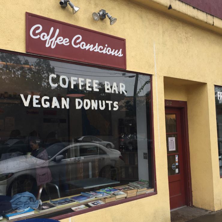 Vegan user review of Coffee Conscious in Berkeley.