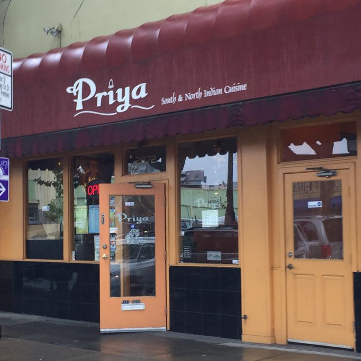 Vegan user review of Priya Indian Cuisine in Berkeley.