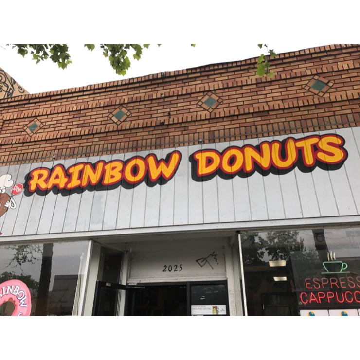 Vegan user review of Rainbow Donuts in Berkeley.