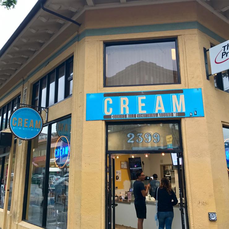 Vegan user review of CREAM in Berkeley.