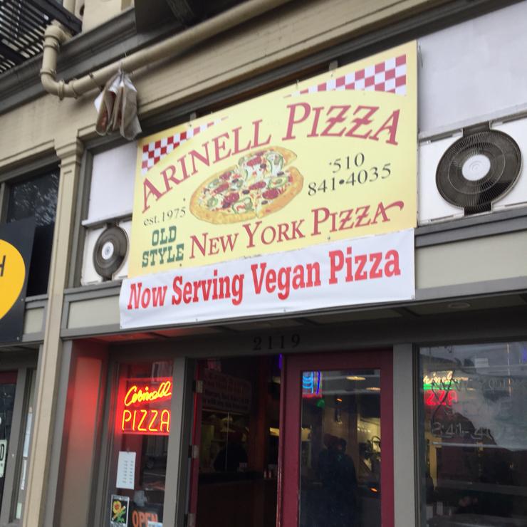 Vegan user review of Arinell Pizza in Berkeley.