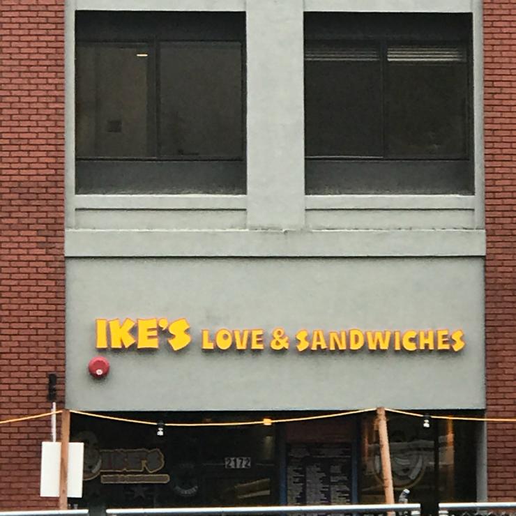 Vegan user review of Ike's Love & Sandwiches in Berkeley.