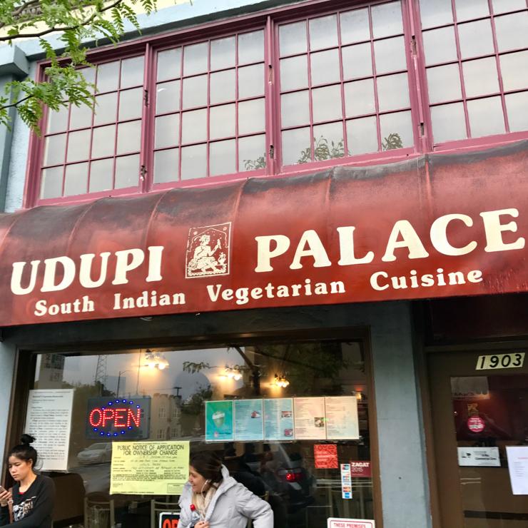 Vegan user review of Udupi Palace in Berkeley.