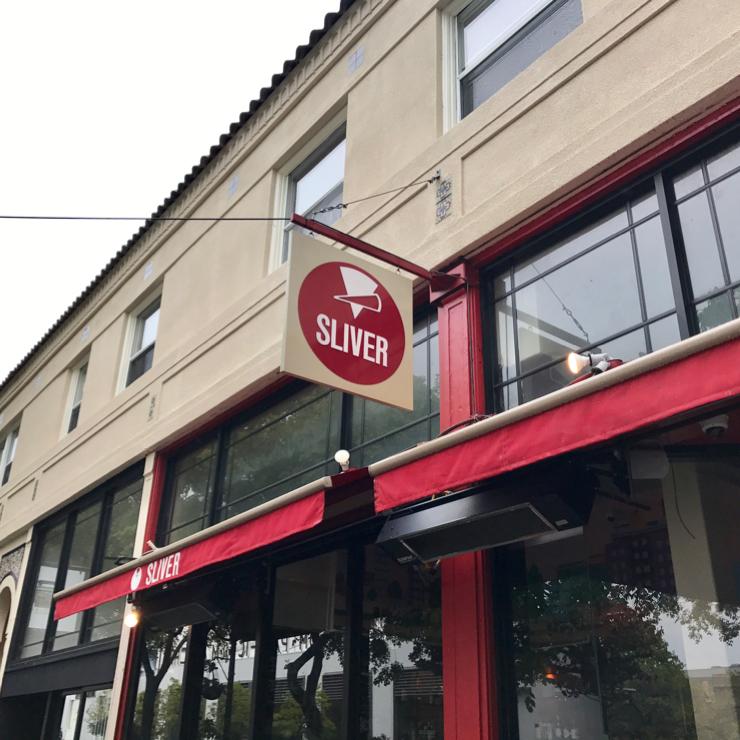Vegan user review of Sliver Pizzeria in Berkeley.