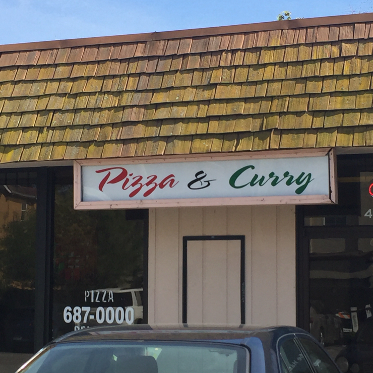 Vegan user review of Pizza & Curry in Fremont.