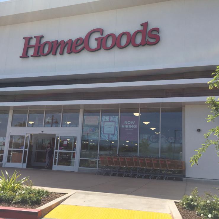 Vegan user review of HomeGoods in San Jose.