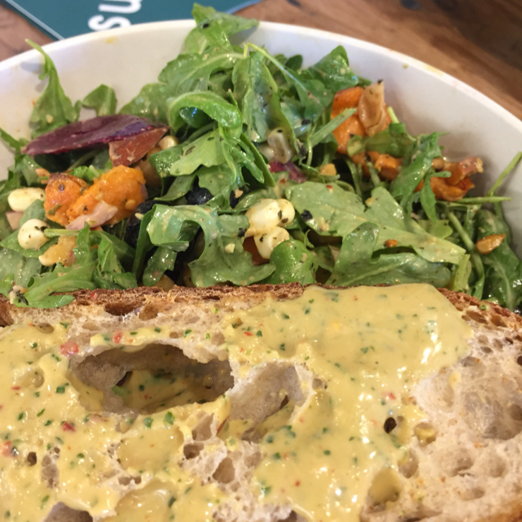 Vegan user review of sweetgreen in Mountain View.