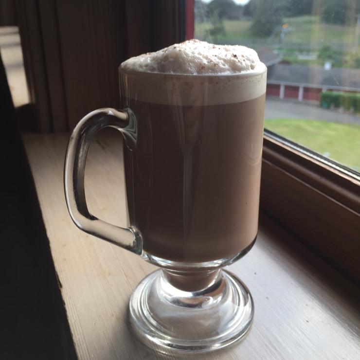 Vegan user review of Ravens' Restaurant in Mendocino. Hot cocoa