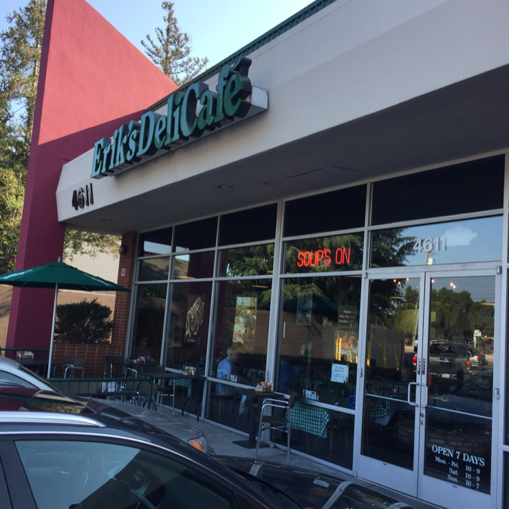 Vegan user review of Erik's DeliCafé in San Jose.