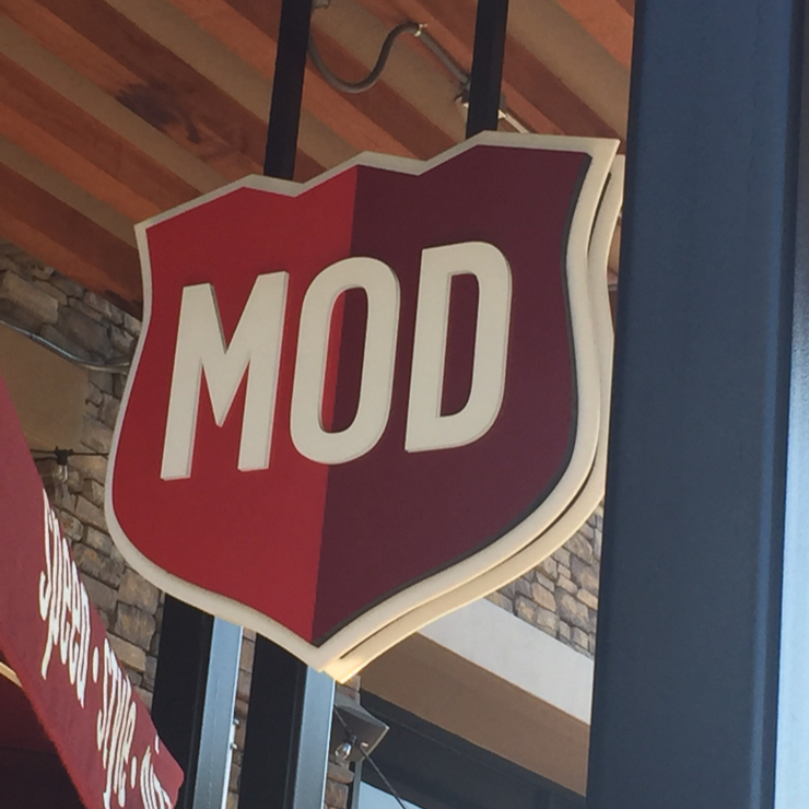 Vegan user review of MOD Pizza in Seattle.