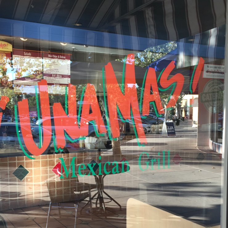 Vegan user review of Una Mas Mexican Grill in Campbell.