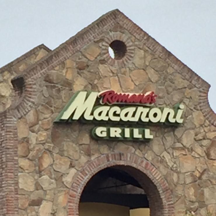 Vegan user review of Romano's Macaroni Grill in Stockton.