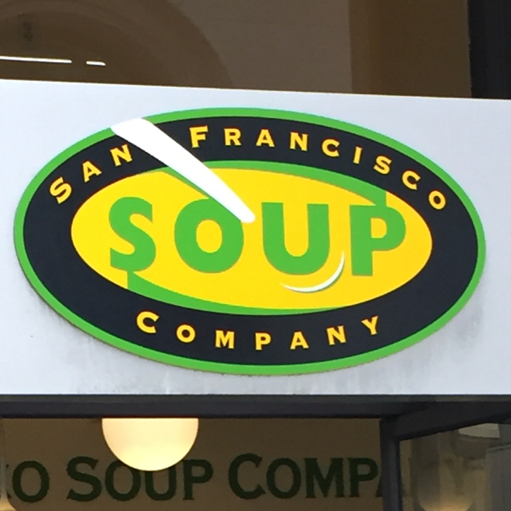 Vegan user review of San Francisco Soup Company in San Francisco.