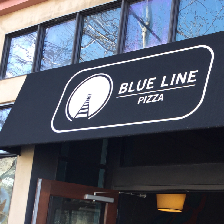 Vegan user review of Blue Line Pizza in Danville.