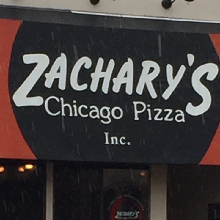 Vegan user review of Zachary's Chicago Pizza in San Ramon.