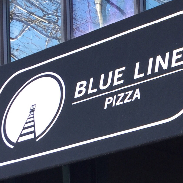 Vegan user review of Blue Line Pizza in Daly City.