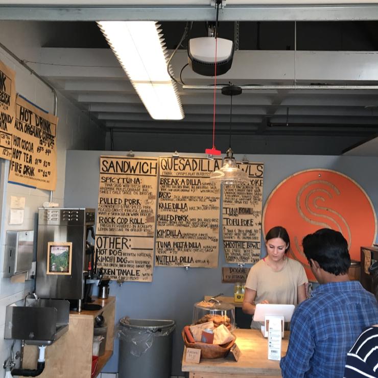 Vegan user review of Steamers Lane Supply in Santa Cruz.