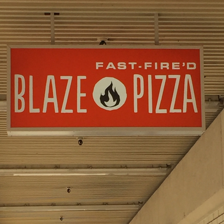 Vegan user review of Blaze Pizza in Salinas.