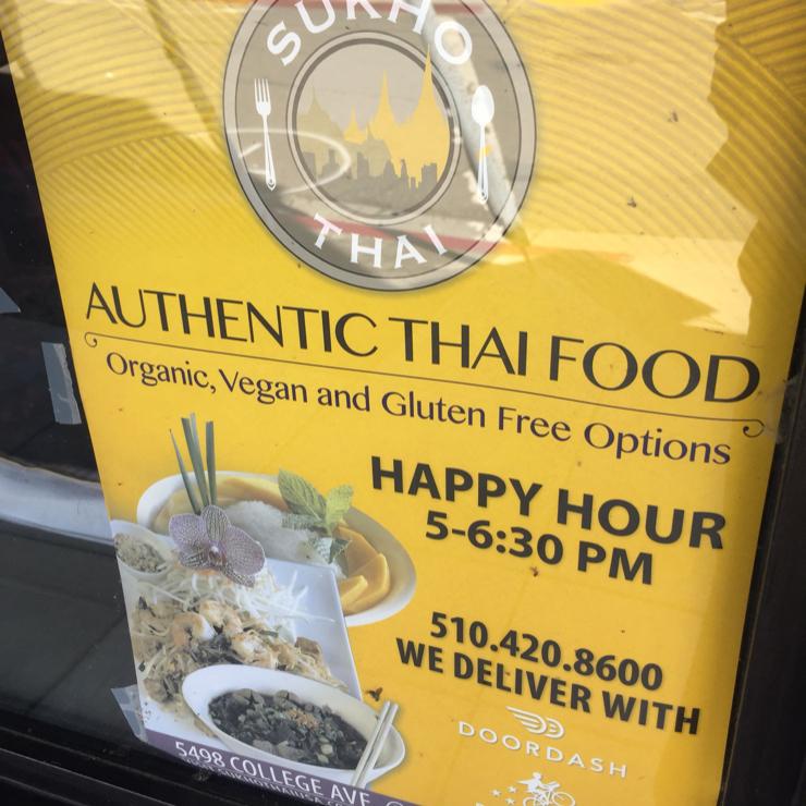 Vegan user review of Sukho Thai in Oakland.