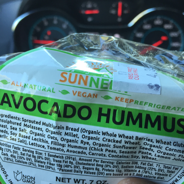 Vegan user review of A&B Naturals in Bar Harbor. Sandwich