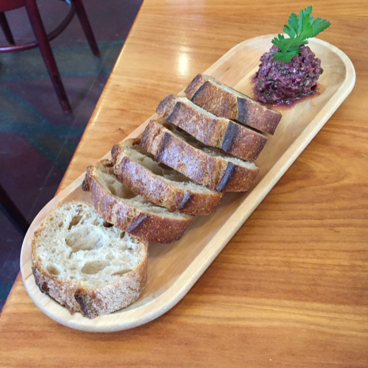 Vegan user review of The North Branch Cafe in Montpelier. Olive tapenade.